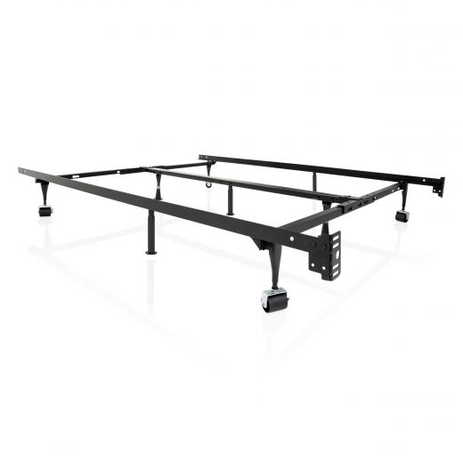 Structures Adjustable Bed Frame with Rollers